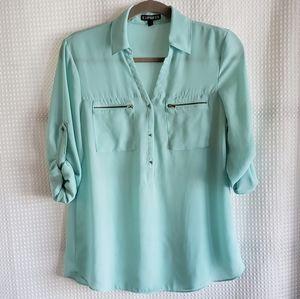Express Mint green blouse size M